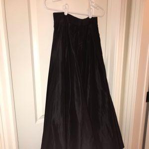 Worth Silk Taffeta Formal Skirt.